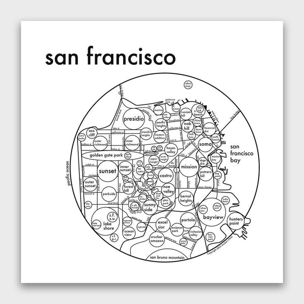 product: Archie's Press San Francisco Map Print