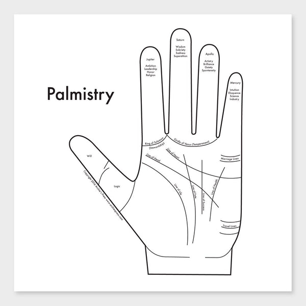 product: Archie's Press Palmistry Print