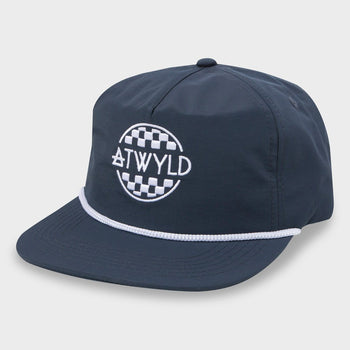 product: Atwyld Women's A-Team 5 Panel Hat Navy