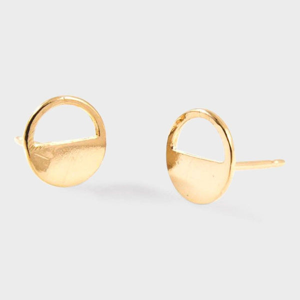 product: Baleen Half Open Circle Studs Gold
