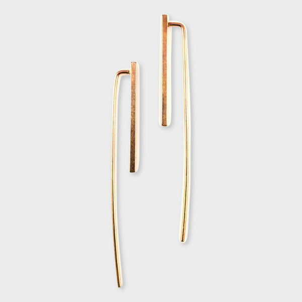 product: Baleen Long Tail Earrings Gold