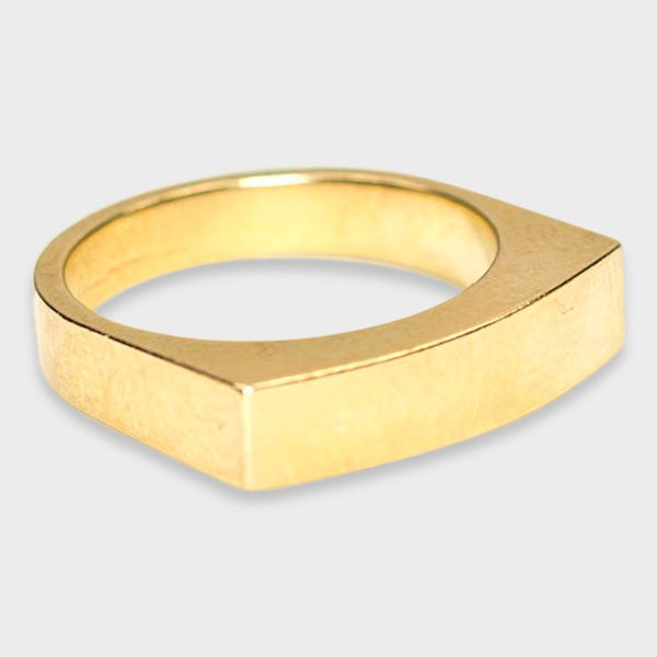 product: Baleen Signet Ring Gold