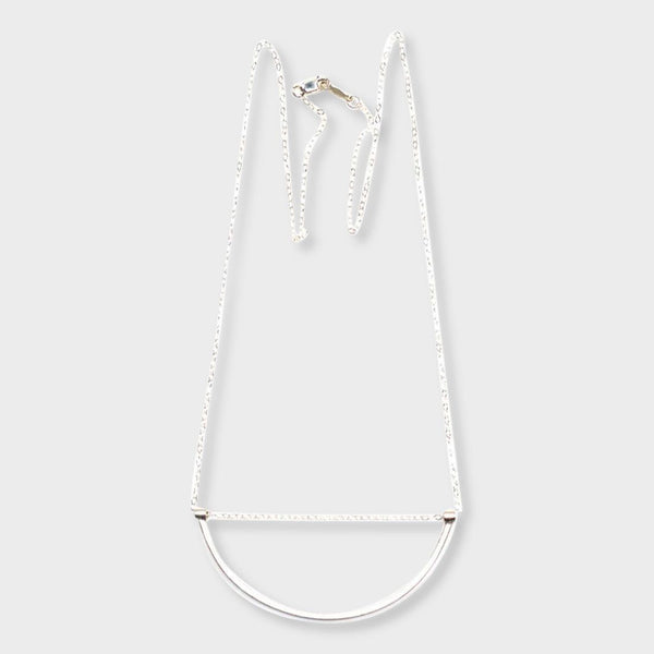 product: Baleen U-Sling Necklace Silver