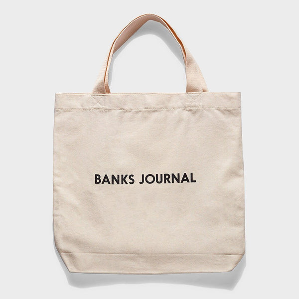 product: Banks Journal Label Tote Off White