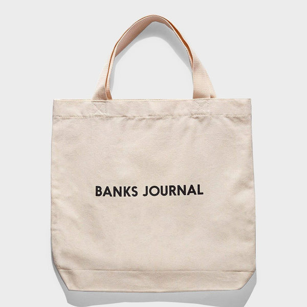 product: Banks Journal Label Tote Bag Off White