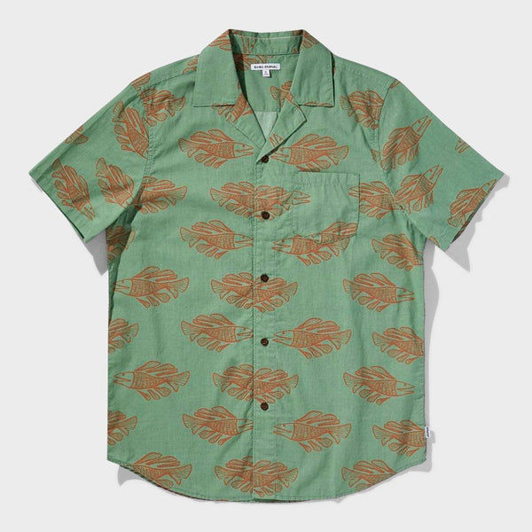 product: Banks Journal Scales Woven Shirt Basil