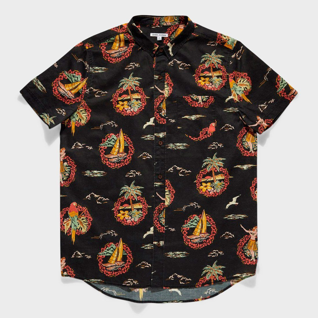 Banks Journal Seaside Shirt Dirty Black