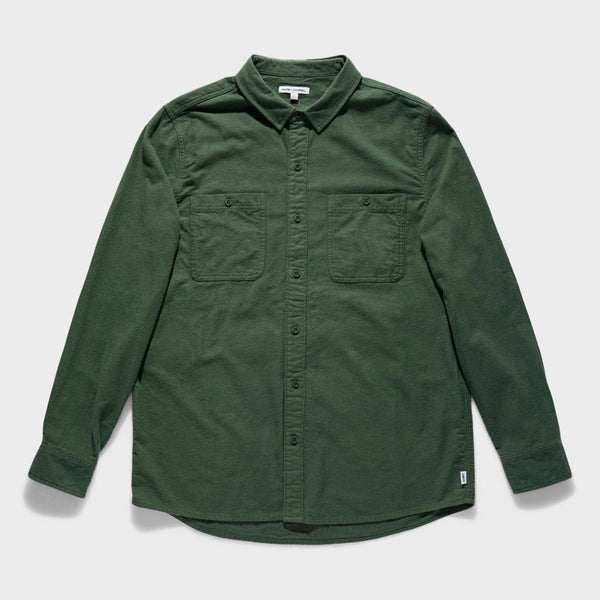 product: Banks Journal Somedays Woven Shirt Green Marine