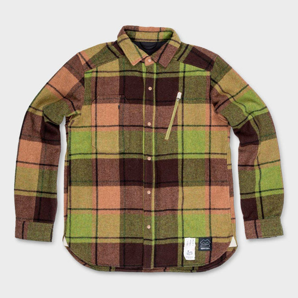 product: Beringia Farallon Wool Plaid Shirt Green