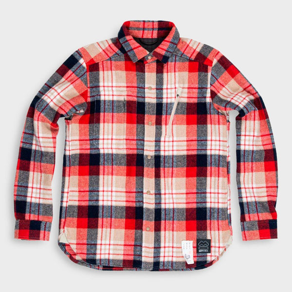 product: Beringia Farallon Wool Plaid Shirt Red