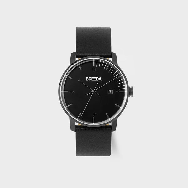product: Breda Phase Watch Black/ Black