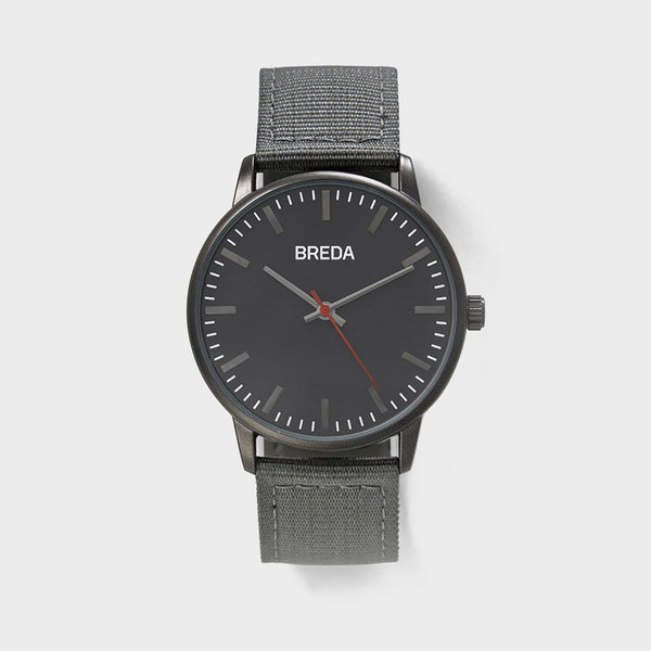 product: Breda Valor Watch Grey/ Gun Metal