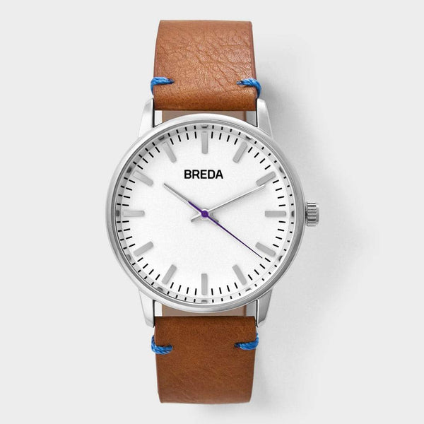 product: Breda Zapf Watch Brown/White