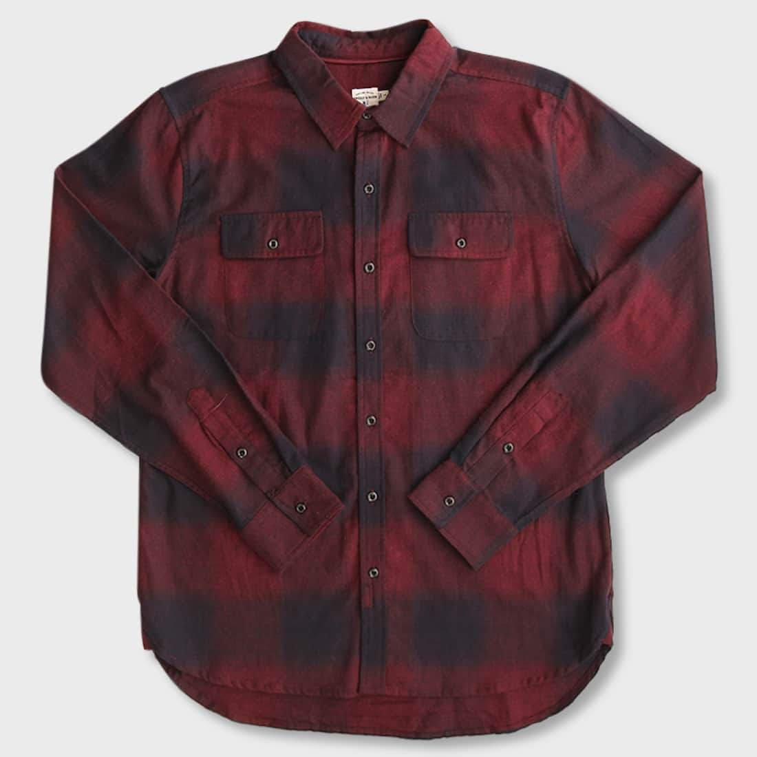 Bridge & Burn Cole Burgundy Ombre Plaid