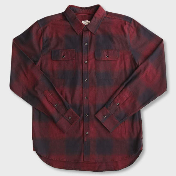 product: Bridge & Burn Cole Burgundy Ombre Plaid