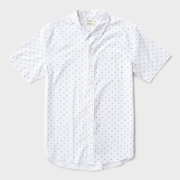 product: Bridge & Burn Harbor Shirt White Polkadot
