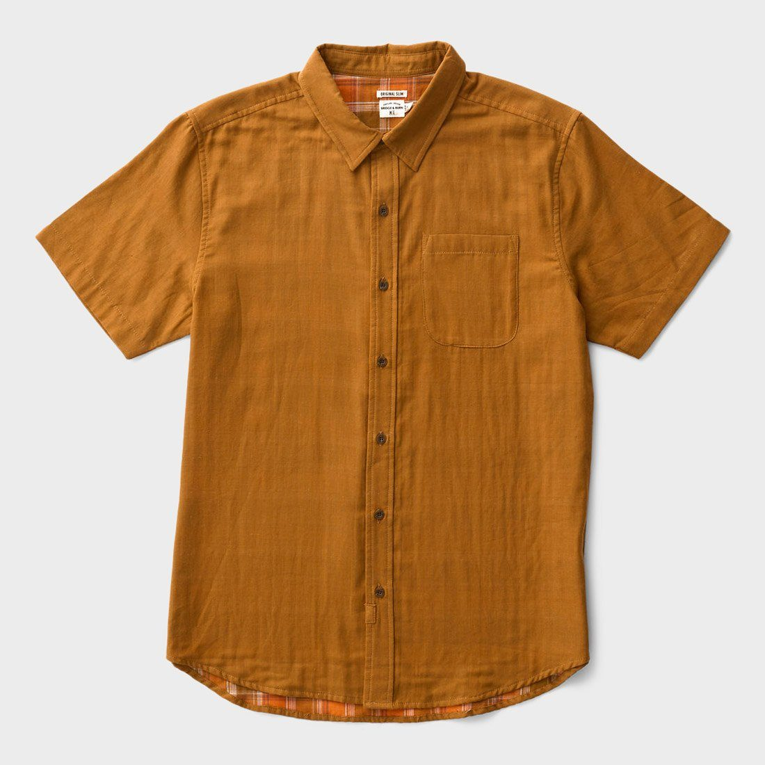 Bridge & Burn Harbor S/S Woven Tan Doublecloth