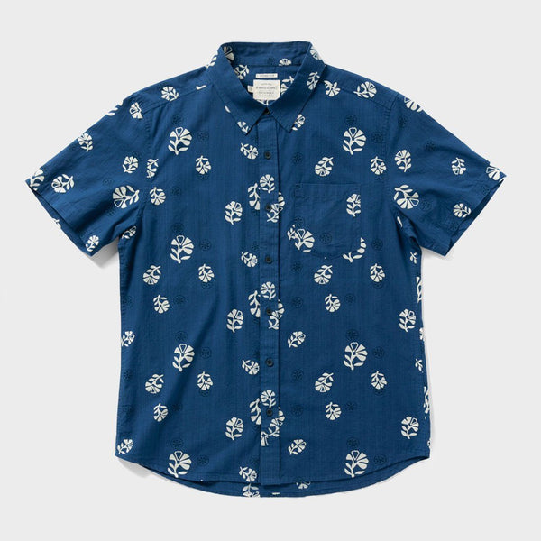 product: Bridge & Burn Harbor Shirt Indigo Block Print