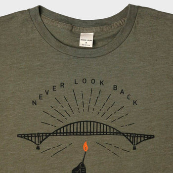 product: Bridge & Burn Never Look Back Tee Olive