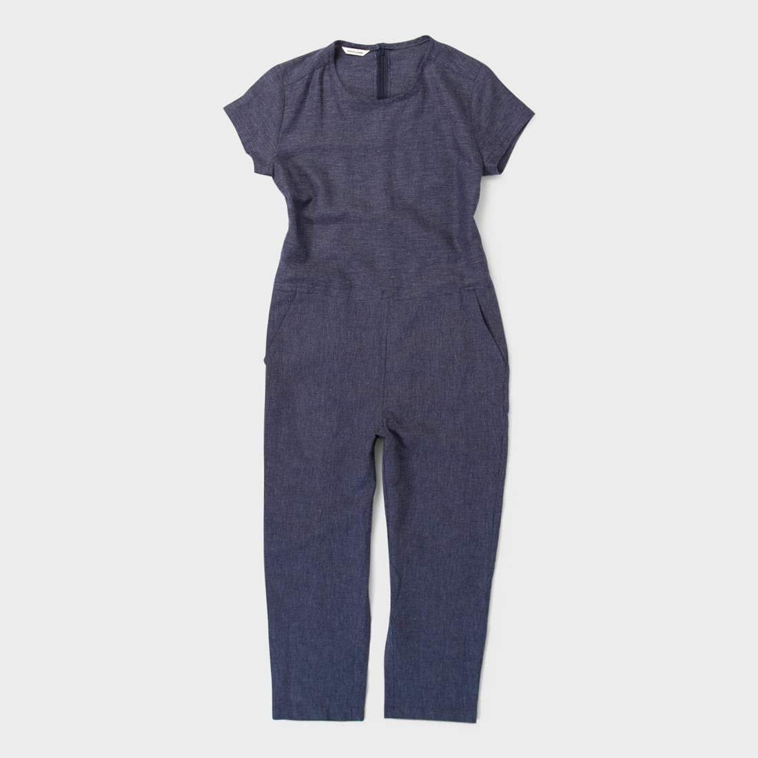 Bridge & Burn Women's Wheeler Jumpsuit Navy Dobby