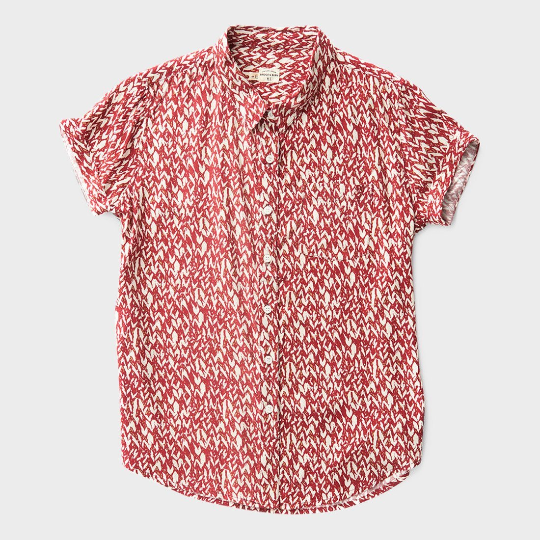 Bridge & Burn Women's Bea S/S Woven Red Print