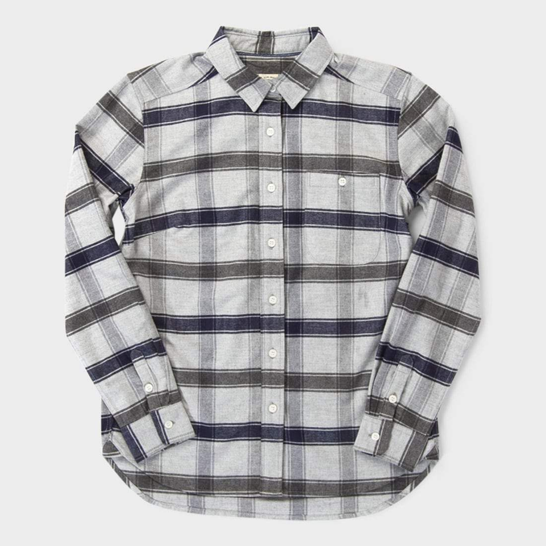 Bridge & Burn Women's Woodrow Shirt Light Grey Plaid
