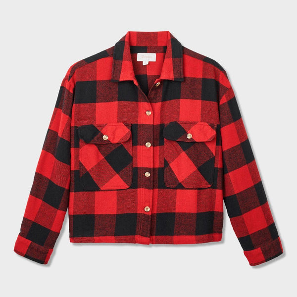 product: Brixton Women's Astoria Flannel Cardinal