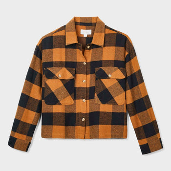 product: Brixton Women's Astoria Flannel Washed Copper