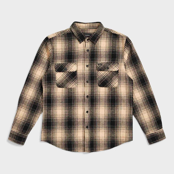 product: Brixton Bowery Flannel Black/Bone