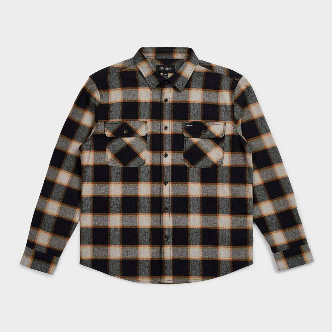 Brixton Bowery Flannel Plaid Black/Cream