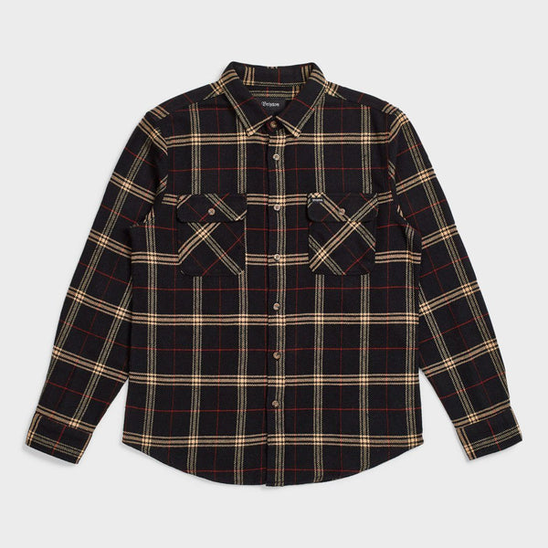 product: Brixton Bowery Flannel Black/ Ivory