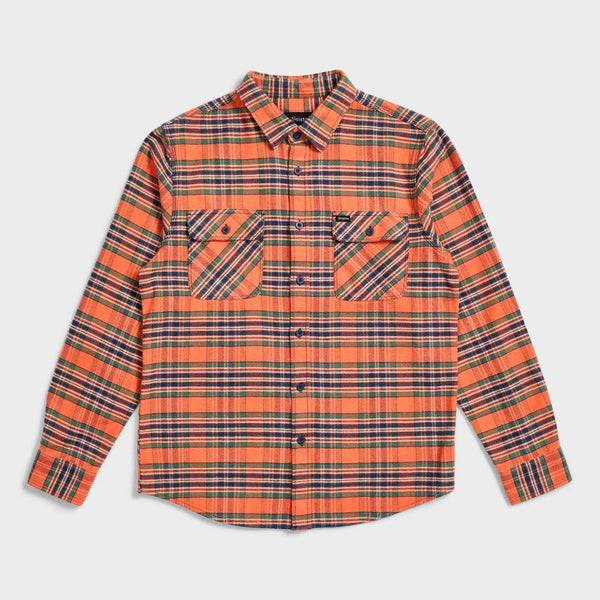product: Brixton Bowery Flannel Salmon/ Navy