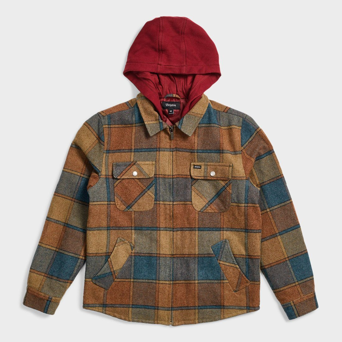 Brixton Bowery Jacket Tan/Blue