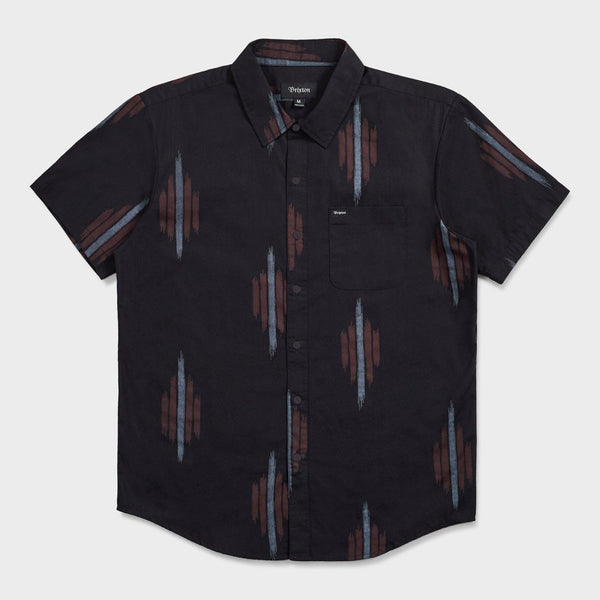 product: Brixton Charter Print Shirt Black/ Red