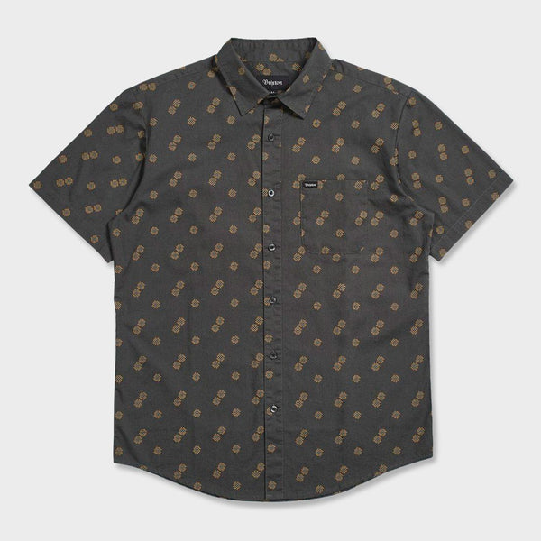 product: Brixton Charter Print Shirt Washed Black/Copper