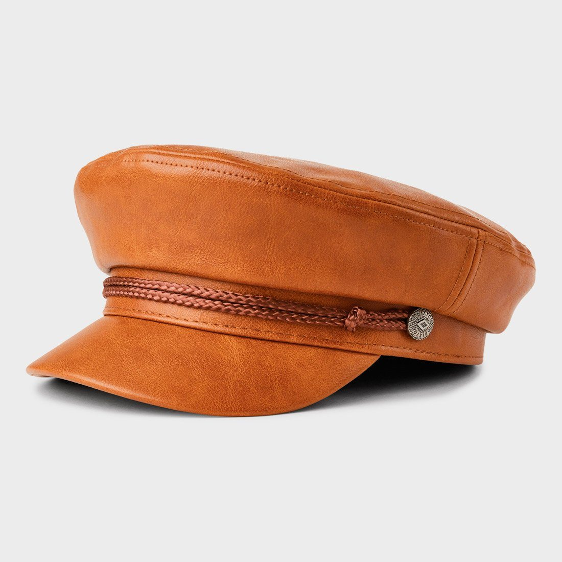 Brixton Fiddler Cap Vegan Leather Tan
