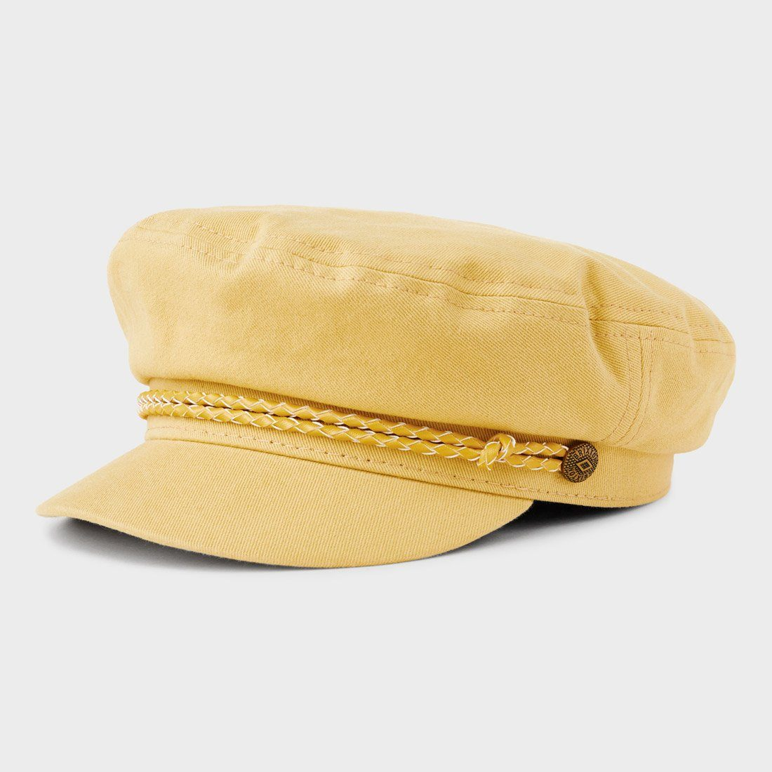 Brixton Fiddler Cap Washed Yellow