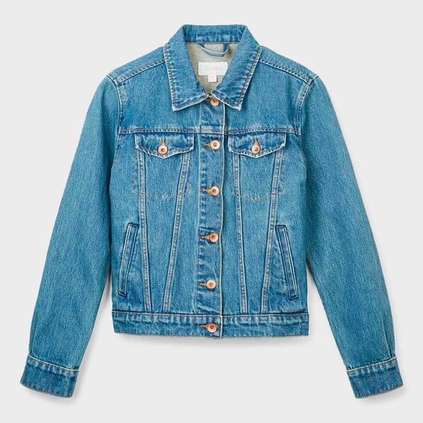 product: Brixton Women's Broadway Denim Jacket Worn Indigo