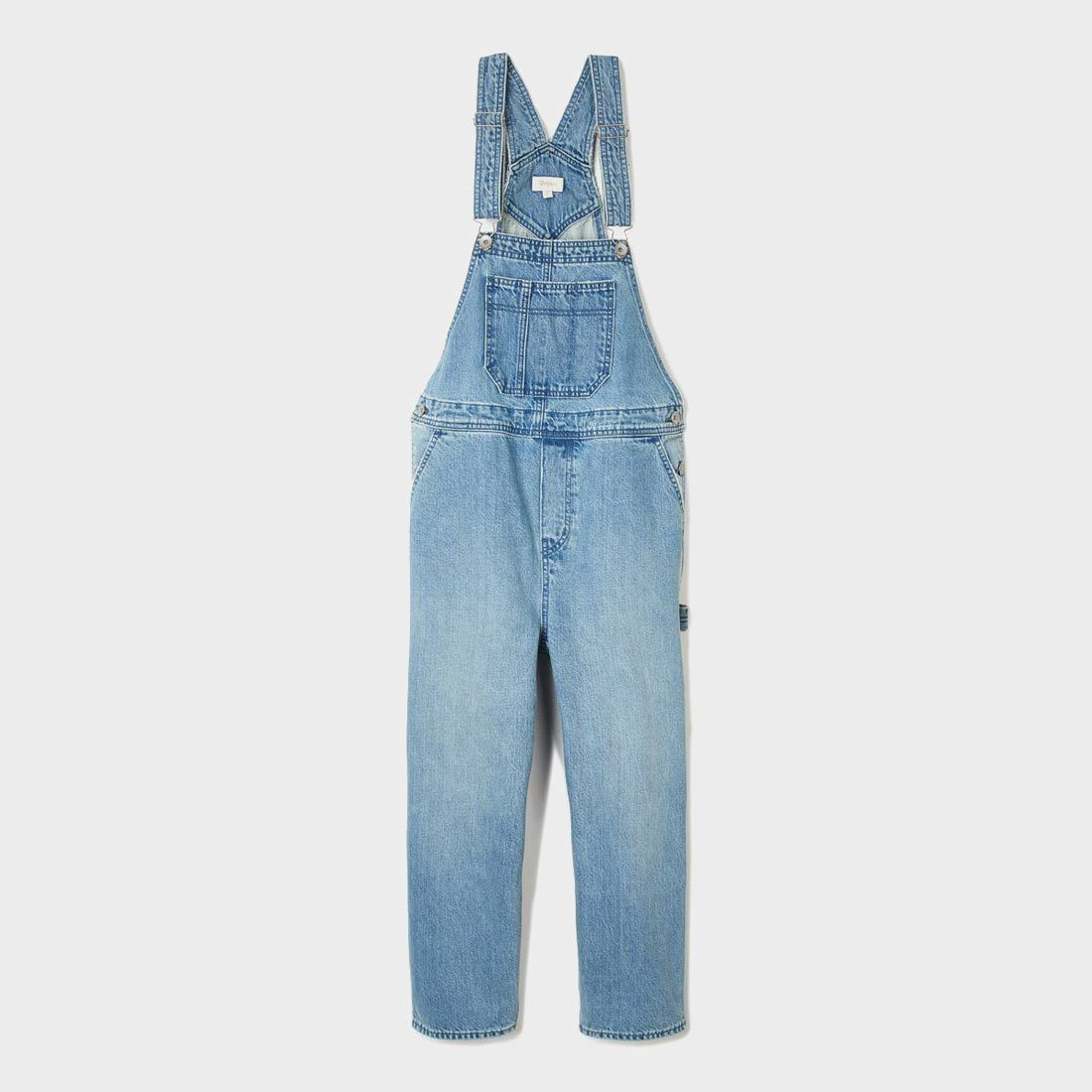 Brixton Women's Christina Crop Overall Faded Indigo