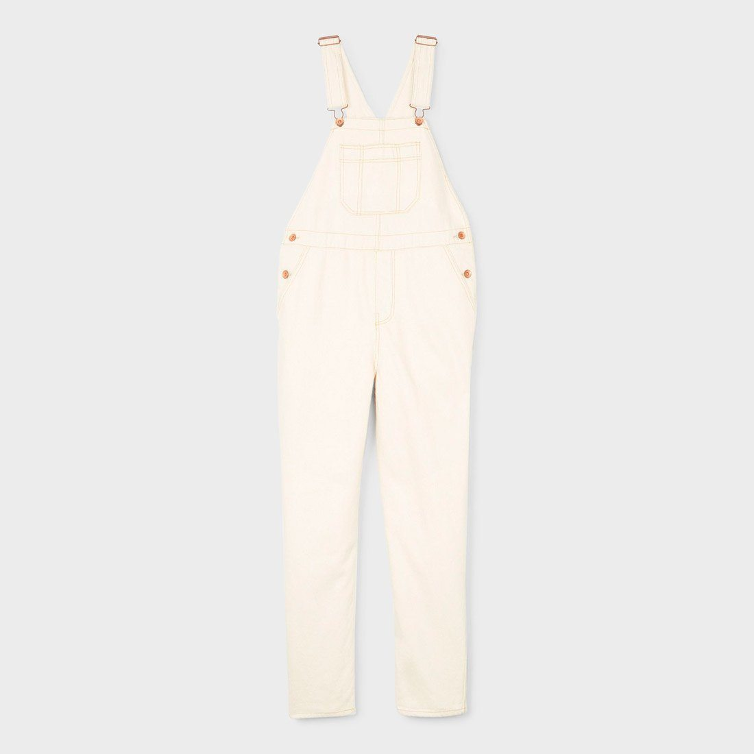 Brixton Christina Crop Overall Washed Copper
