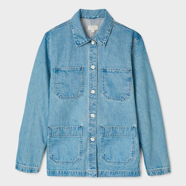 product: Brixton Women's Karen Chore Coat Faded Blue