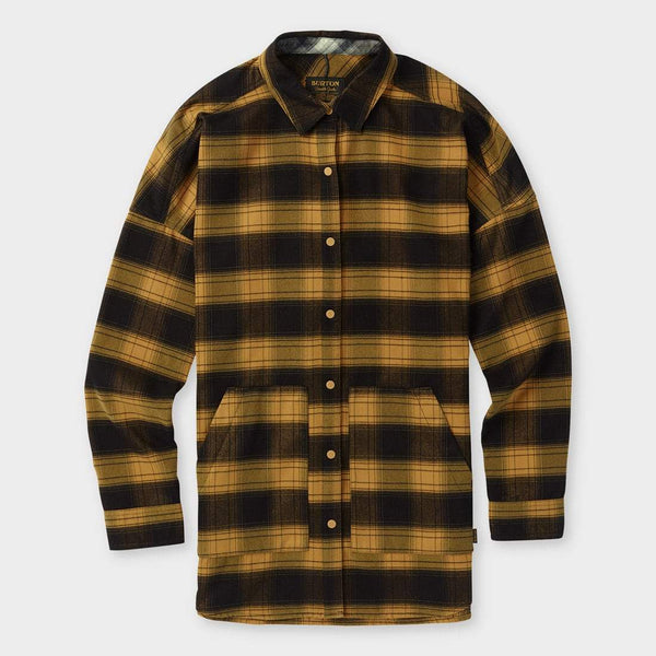 product: Burton Teyla Flannel Camel Muirwood Plaid