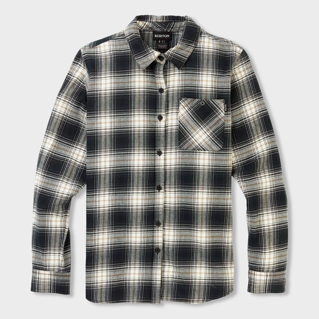 Burton Women's Grace Flannel True Black Elias Plaid