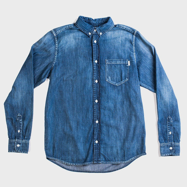 product: Carhartt Wip L/S Civil Shirt Blue Fidelity Washed