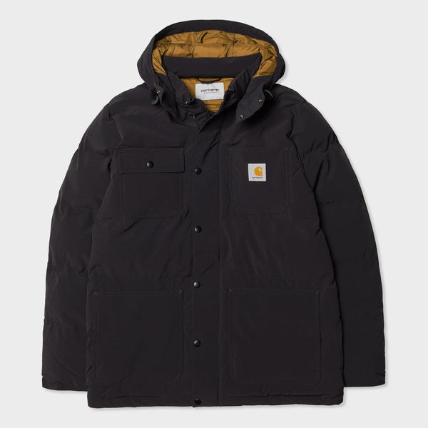 product: Carhartt WIP Alpine Coat Black/ Hamilton Brown