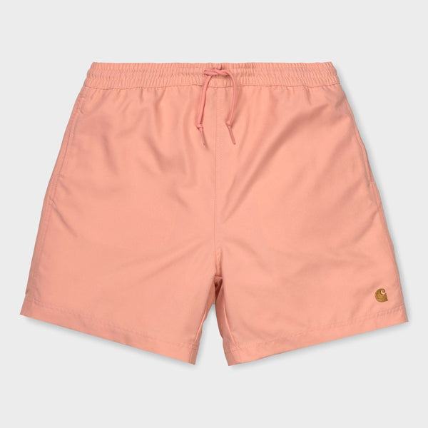 product: Carhartt WIP Chase Swim Trunk Peach/Gold