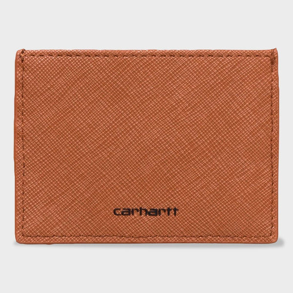 product: Carhartt WIP Coated Card Holder Hamilton Brown / Black