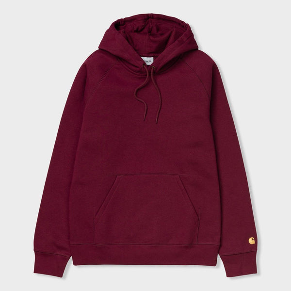 product: Carhartt WIP Hooded Chase Sweatshirt Cranberry/ Gold