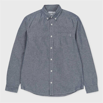 product: Carhartt WIP L/S Civil Shirt Blue Rinsed