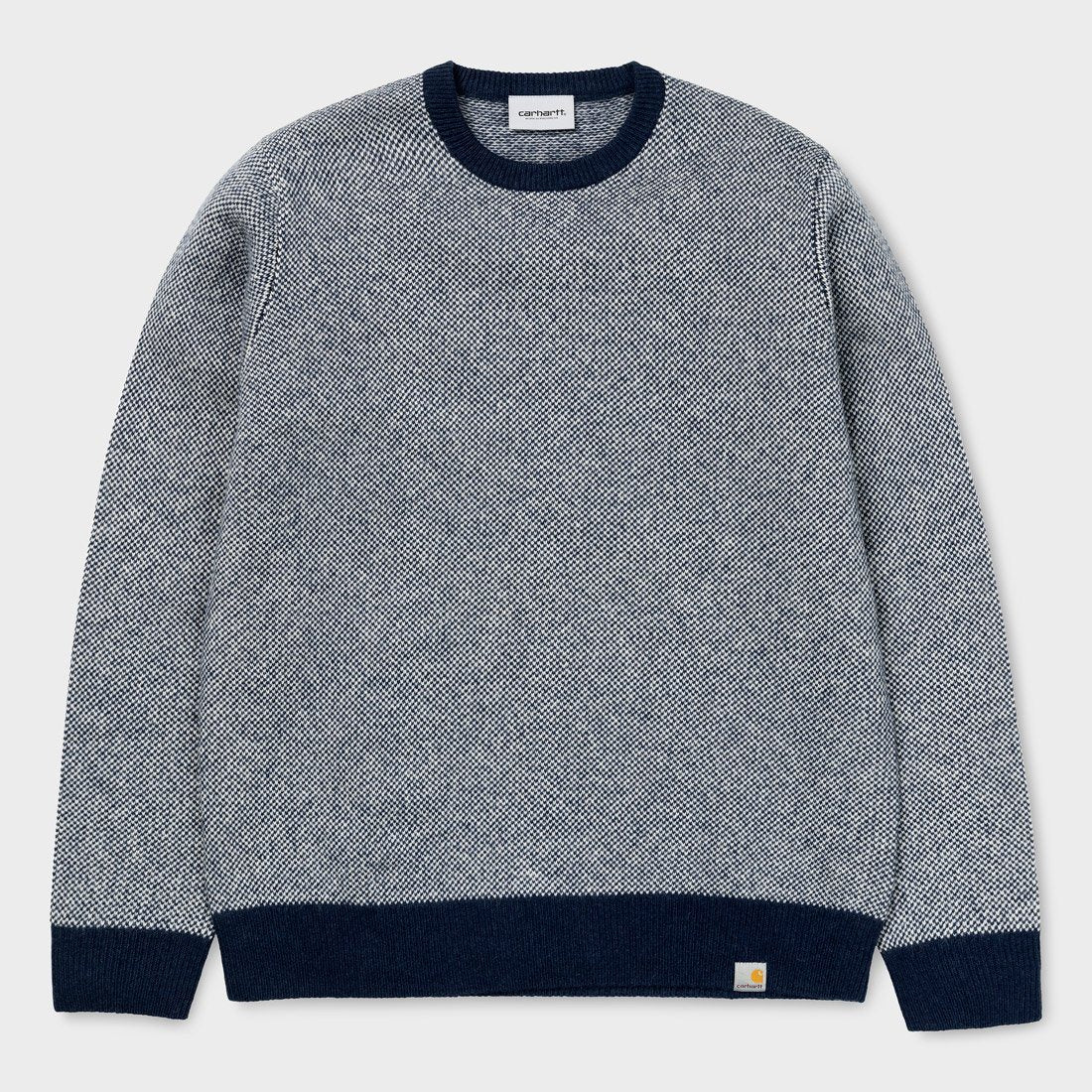 Carhartt WIP Spooner Sweater Dark Navy/Snow